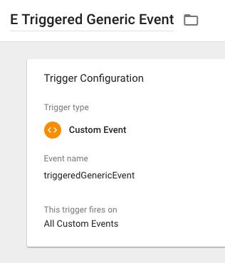 GTM Generic Event Trigger