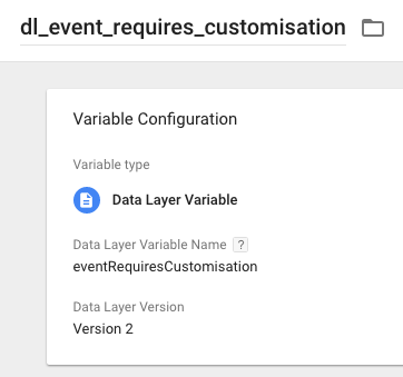 Event Requires Customisation variable in GTM